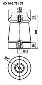 Изоляторы опорные ИО-10-3,75 I УЗ