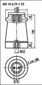Изоляторы опорные ИО-10-3,75 II У3