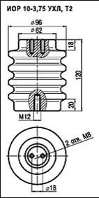 Изоляторы опорные ИОР-10-3,75 УXЛ, Т2