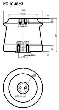 Изоляторы опорные ИО 10-30 УЗ