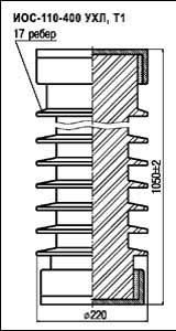 Изоляторы опорные стержневые ИОС 110-400 УХЛ, Т1
