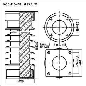 Изоляторы опорные стержневые ИОС 110-400 М УХЛ, Т1