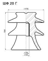 Изоляторы штыревые ШФ 20Г (10 кВ)