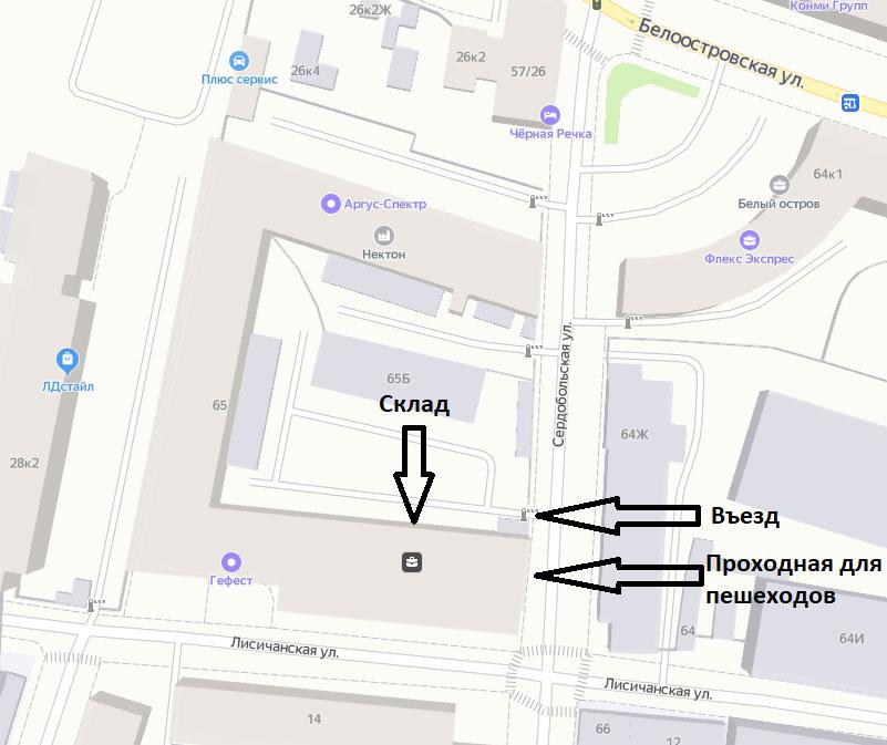 Схема проезда в ООО Разряд-М